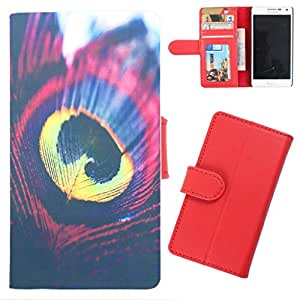 DooDa - For iPhone 5C PU Leather Designer Fashionable Fancy Wallet Flip Case Cover Pouch With Card, ID & Cash Slots And Smooth Inner Velvet With Strong Magnetic Lock