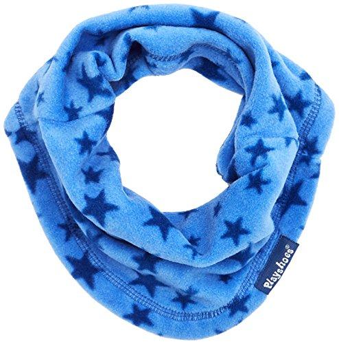 Playshoes Schlauchschal aus Fleece atmungsaktiv, mit Sternen-Muster Softer Rundschal geeignet für kalte Tage, blau, one Size