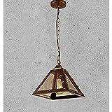 Huntvp® Industrielle Pendelleuchte Vintage Hängelampe Retro Kupfer Deckenlampe Archaize Prozess E27 Lampenschirm Loft Esstischlampe für Wohnzimmer Restaurant Keller Café Bar [Energieklasse A++]