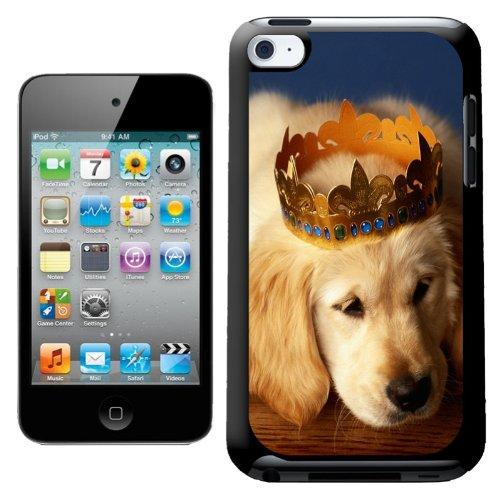Fancy A Snuggle Coque rigide à clipser motif chiot couronné Coque arrière rigide Design pour Apple iPod Touch 4ème génération