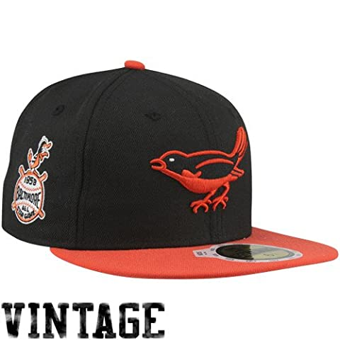 New Era 5950 All Star Seite Patch Baltimore Orioles 1958 MLB