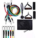 11pcs Resistance Bands Set,Workout Bands,Exercise Bands,fitness elastic band With Handles Set for Home Workouts,Physical Powe
