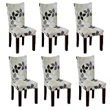 Fuloon Chair Cover Stretch Removable Washable Chair Slipcovers for Hotel Dining Room Ceremony Banquet Wedding Party Decor (set of 6)