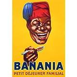 Éditions Clouet 29010 Tableau d'Affichage Banania Tête CP Métal 15 x 21 cm
