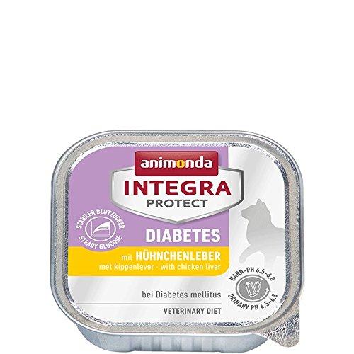 animonda Integra Protect Diabetes mit Hühnchenleber | Diät Katzenfutter | Nassfutter bei Diabetes mellitus (16 x 100 g)