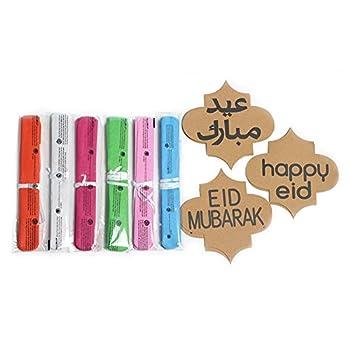 Lembeauty 6pcs Seidenpapier Flower Ball Hängen Pom Mit Eid Mubarak Tags Für Party Einkaufszentrum Aktivitäten Fenster Decor 5