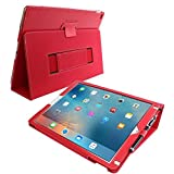 iPad Pro Case, Snugg™ - Red Leather Smart Case Cover and Stand, [Elastic Hand Strap] - Protective Apple iPad Pro Folio Accessories [Lifetime Guarantee]