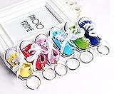 Sneaker Baby Kinder süßer kleiner Schuh Schlüsselanhänger Anhänger Farbvarianten (weiß/hell creme)