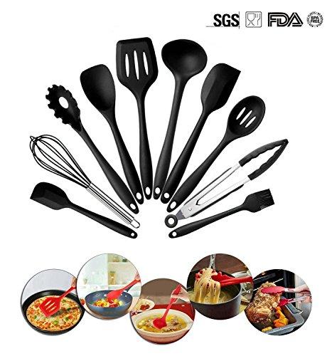 silikon küchenhelfer,Hochwertige Hitzebeständige Antihaft-EinfachZu Reinigen Küche,silikon küchenutensilien,silikon löffelsilikon schneebesenKüchenhelfer Set 10Stück