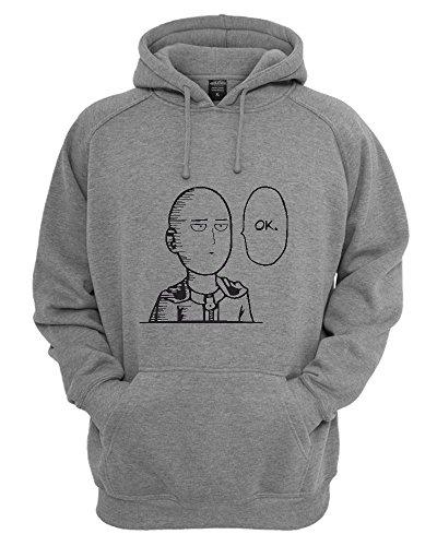 iShirt One Punch Man Saitama OK Funny Unisex Pullover Hoodie X-Large