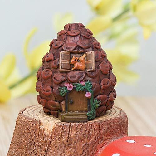 Miniaturen DIY Handwerk Figuren Mini Haus Fee Garten Dekoration Micro Landschaft Harz(Tannenzapfen) (Tannenzapfen Miniatur)