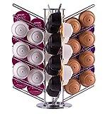 Drehbarer, verchromter Kapselhalter für 56 Dolce Gusto Kaffeekapseln | fehlerfreies Entnahmesystem | Babavoom® DG56