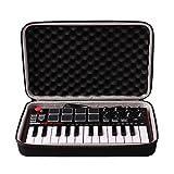 Travel Hard Carrying Case für Akai Professional MPK Mini mkII | 25-key Ultra-Portables USB MIDI Drum Pad und Keyboard Controller # 29646