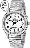 2nd Generation reloj parlante–Silver-tone Day-Date mujeres reloj de alarma (act-tk34-a352l-02) (M106)