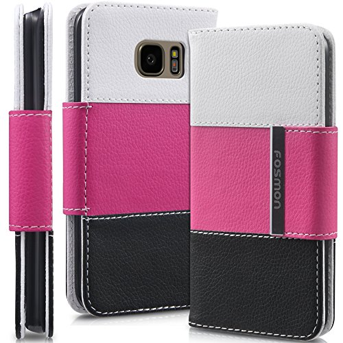 samsung-galaxy-s7-wallet-case-fosmon-caddy-tri-faux-leather-folio-tricolor-wallet-cover-for-galaxy-s
