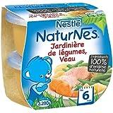 Nestlé Naturnes jardinière de légumes veau 2x200g dès 6 mois - ( Prix Unitaire ) - Envoi Rapide Et Soignée