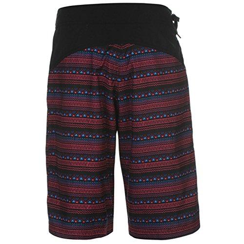 Hot Tuna Damen Bahama Board Shorts Badeshorts Schwimmshorts Knielang Surfshorts Schwarz Tribal