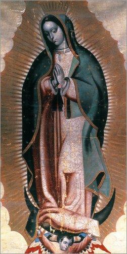 Posterlounge Lienzo 40 x 80 cm: The Virgin of Guadalupe de Granger Collection - Cuadro Terminado, Cuadro sobre Bastidor, lámina terminada sobre Lienzo auténtico, impresión en Lienzo