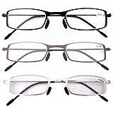 Eyekepper Lot de 3 Paires lunettes de lecture de vue pour homme et femme