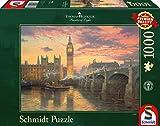 Schmidt Spiele Puzzle 59471 - Thomas Kinkade, Abendstimmung in London, 1.000 Teile