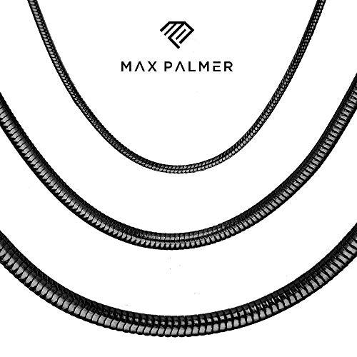 Max Palmer Schlangenkette Edelstahl schwarz - [29.] Dicke: 2,5mm - Länge: 40cm