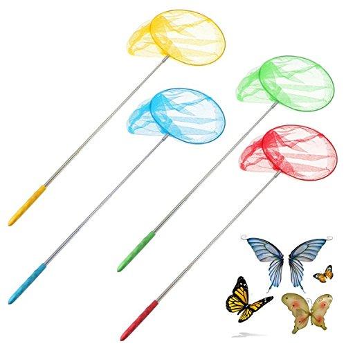 Au_en Ausziehbare Schmetterlingsnetz Insekt-Wanzen-Kescher Werkzeuge Garten Kind-Kind-Spielzeug