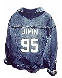 ShallGood Unisex BTS Jeansjacke für ARMY BTS KPOP Damen Herren Bangtan Boys Suga Jin Jimin Jung Kook J-Hope Rap-Monster Tops Baseball Jacke Denim Mantel 95 JIMIN Einheitsgröße (DE 34-44)