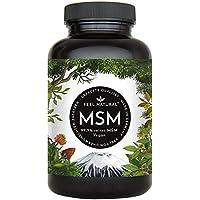 Der VERGLEICHSSIEGER 2018*: MSM Kapseln - 365 vegane Kapseln (6 Monate). 1600mg MSM (Methylsulfonylmethan) Pulver je Tagesdosis. Laborgeprüft, ohne Magnesiumstearat. Vegan, hergestellt in Deutschland