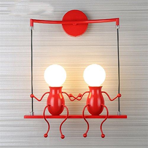 PLYY Kinder Wandleuchten Moderne Schlafzimmer Kreative Nachttischlampe Korridor Gang Treppenhaus...