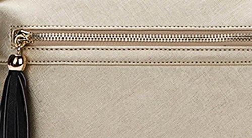 FZHLY Nuova Spalla Dell'unità Di Elaborazione Zaino Nappa Di Moda,PearlLightGold PearlPurple