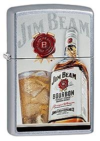 Zippo Jim Beam 29124 Cigarette Lighter (Brushed Chrome)