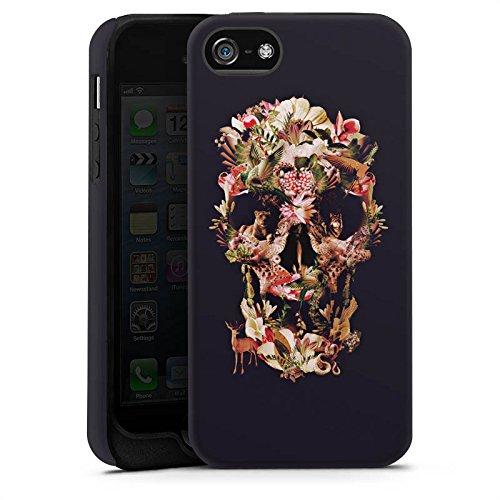 Apple iPhone X Silikon Hülle Case Schutzhülle Skull Totenkopf Schädel Tough Case matt