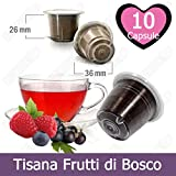 10 Capsule Kickkick Tisana Ai Frutti Di Bosco Compatibili Nespresso