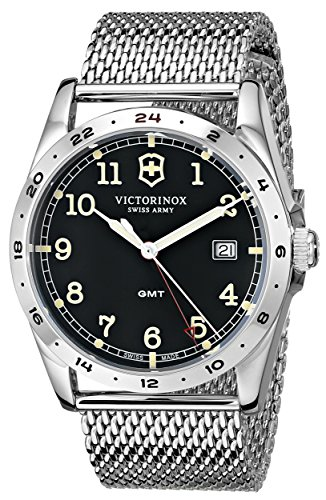 """Victorinox Unisex 241649""""Infantry"""" Stainless Steel Watch with Mesh Bracelet"""