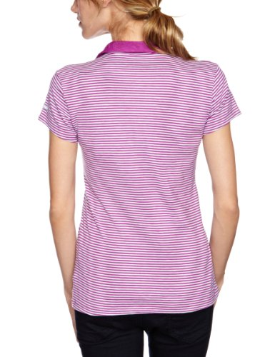 Columbia Rocky Ridge Stripe Polo T-shirt femme Rosa - Marmellata di bacche