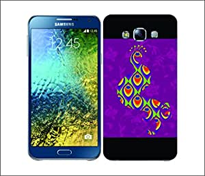 Galaxy Printed 2314 MadCLoak Peacock Hard Cover for Samsung A3