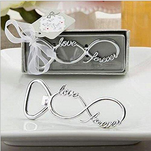 Baiou creativo bomboniere nozze apribottiglie chiave/aereo/amore/fiocco di neve/angelo/pantofola/ancora apribottiglie per bomboniere interessante regalo souvenir (8&love, 60)