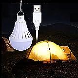 LEDMOMO USB-Glühlampe-kampierendes helles bewegliches LED-Birnen-Nachtlicht für Hauptnotfall-im Freienlager, das 9W wa