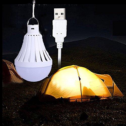 Licht Campe USB Licht Notebook LED Nachtlicht für Zuhause Lager Notlage im Freien laufen 9W (6500K) ()