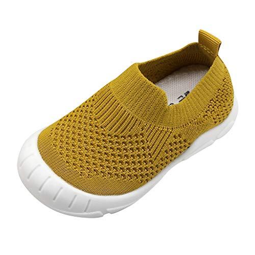 Alwayswin Unisex Kinder Flache Schuhe Baby Jungen Mädchen Mesh Sneaker Atmungsaktiver Kinderschuhe Freizeitschuhe Slip-On Sportschuhe Coole Schuhe Einzelne Schuhe Faule Schuhe -