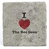 I love the Bee Gees–Marble Tile Drink Untersetzer
