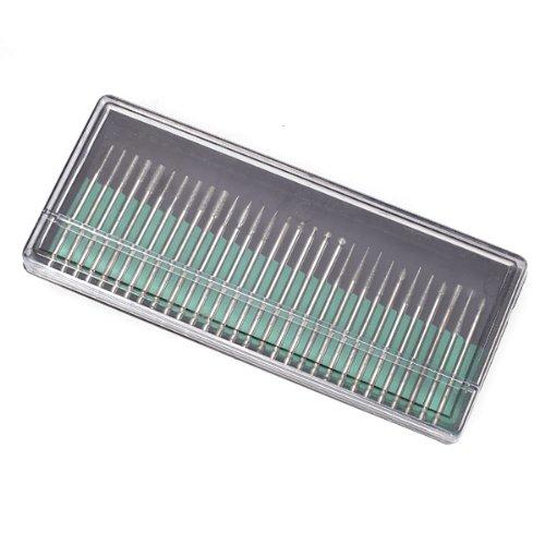 30Pcs 2.3mm Mangos Brocas Taladros De Diamante Para uñas Diamond Bur Bits