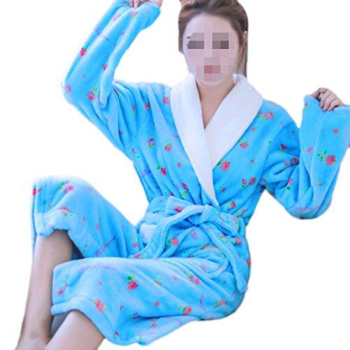 Usure Domestique PDFGO Service à La Maison Pyjamas Flanelle Femme Chemise De Nuit Peignoir Doux épaississement Confortable E
