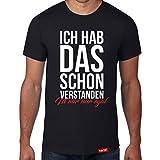 Ich hab das schon verstanden - Ist mir nur egal // Original Hariz® T-Shirt - Sechzehn Farben, XS-4XXL // Lustig | Männer | Sprüche | Baumwolle | Bedruckt #Statement Spruch Collection Black XL