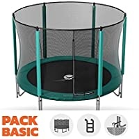 Preisvergleich für Pack Trampolin Basic jump' Up 360mit Netz + Leiter + Kit Ankerstange