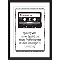 The Smiths 'Ask' Lyrics - Unframed Stampa