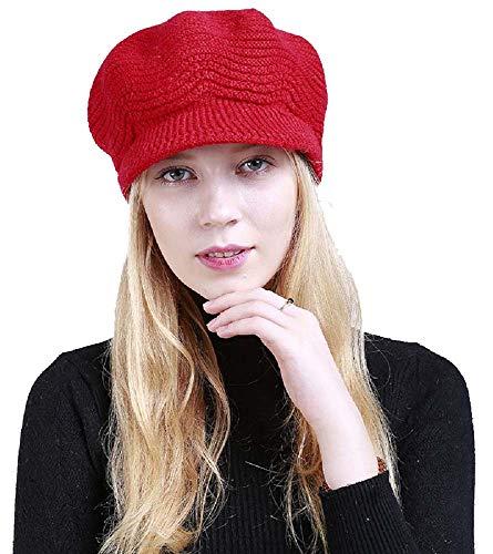 8ddafa8a9b68b Yuson Girl Sombrero del cráneo de la Gorrita Tejida de Slouchy Cable Knit  Beanie del Invierno