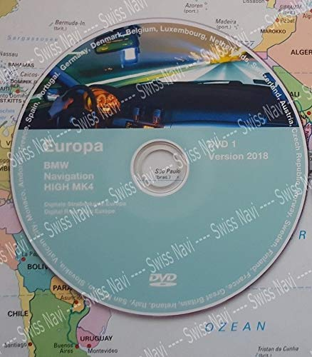 BMW High DVD 2018 Europa DVD Navigation MK IV DVD1 + Update V32 New