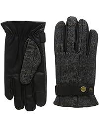 isotoner Men's Smartouch Herringbone Back Checkered Gloves
