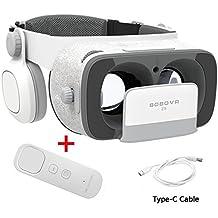 BOBOVR Z5 Pro 3D VR Gafas Realidad Virtual con Auriculares Headset Gafas para Ver 3D Películas/Juegos Compatible Daydream Gamepad FOV120 IPD Focus Adjustablei Phone Samsung Galaxy